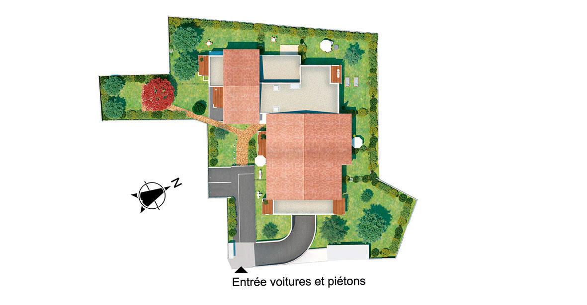 plan résidence écrin des marots